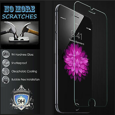 100% Genuine Tempered Glass Screen Protector For Apple iPhone 7 6s Plus iPod 6 5