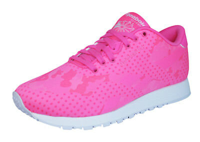 0fe92af8391 Reebok Classic Nylon Jacquard Womens Running Sneakers   Shoes - Pink