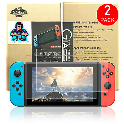 ExtremeGripPro® Tempered Glass Screen Protector For Nintendo Switch (2 PACK)
