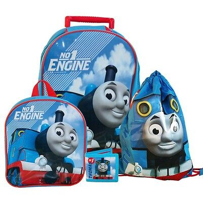 Thomas and Friends - Kids Travel Set 4 Pieces - Trolley Backpack Sports Bag