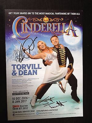 Jayne Torvill & Christopher Dean - Olympic Skating Champions - Signed Flyer