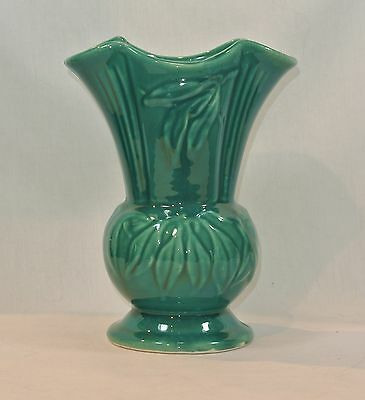 Vintage SHAWNEE Pottery Large Dark Green VASE