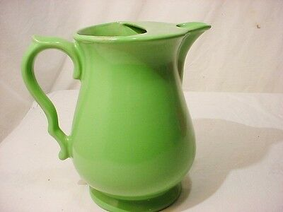 Vtg Shenango China New Castle Pa. Ironstone Large Green 64 oz.Water Pitcher