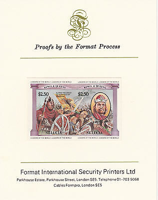 St Lucia 3412 - 1984 MONARCHS  imperf on Format International PROOF  CARD