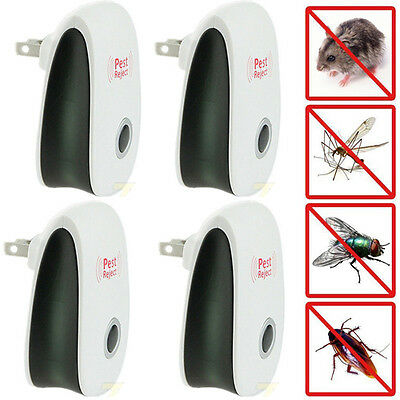 4X Ultrasonic Electronic Insect Anti Mosquito Cockroach Pest Bug Reject Repeller