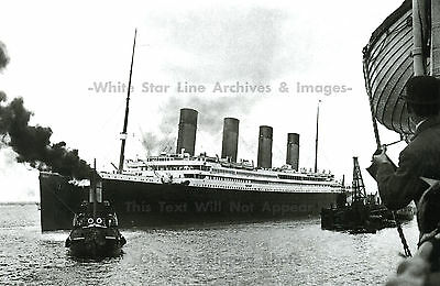 """Photo: 7"""" x 5"""" Rare View:  On Board Oceanic View Of Stopped Titanic, April, 1912"""
