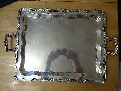 Industria Peruana vintage Rare Antique sterling silver tray platter 925