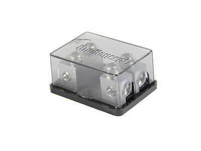 KnuKonceptz Bassik 2 Way 4 Gauge to 4 / 8 Gauge Mini ANL Fuse Block w 60A Fuses