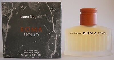 Laura Biagiotti Roma Uomo After Shave 75 ml Aftershave Lotion Rasierwasser