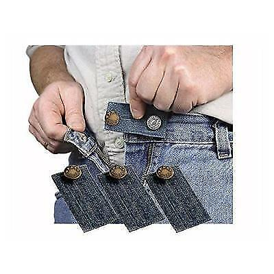 Denim Jean Waist Extender Set of 3 for Men or Women with Gold Finished Metal