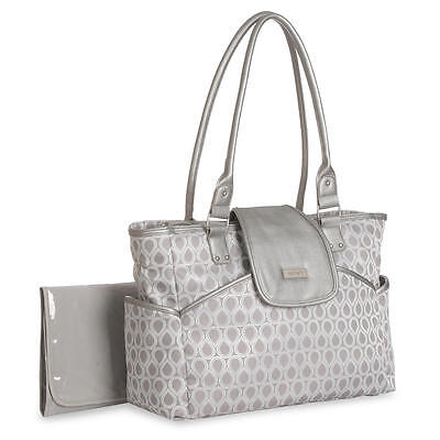 New Carter's Jaquard Metallic Diaper Bag Tote - Silver Model:18251972