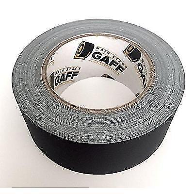 Gaffers Tape - 2 inch by 30 Yard Roll - Black - Main Stage Gaff Tape - Easy to