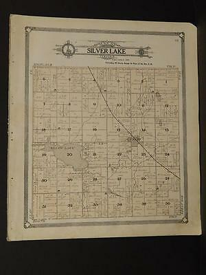 Iowa Palo Alto County Map Silver Lake Township  1908  J7#75