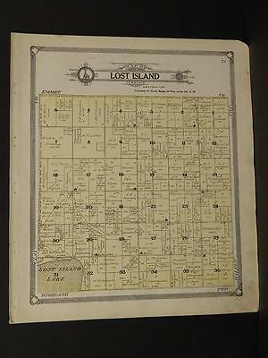 Iowa Palo Alto County Map Lost Island Township  1908  J7#85