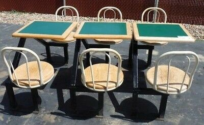 Restaurant Equipment 3 TABLE AND CHAIR COMBINATION SETS WITH SWIVEL CHAIRS