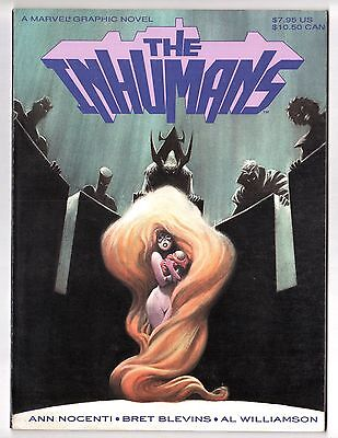 INHUMANS Marvel Graphic Novel by Nocenti & Blevins 1st Printing May 1988 VF/NM