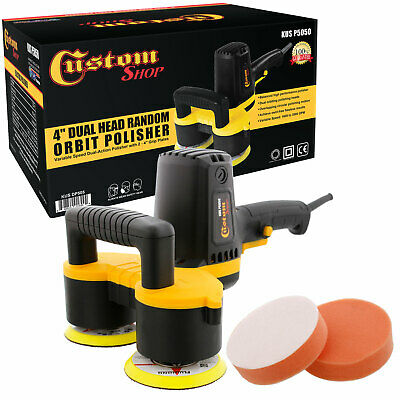 "Custom Shop 4"" Dual Head Variable Speed Random Orbit Dual-Action Polisher Polish"