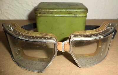 Antique Cesco Wide Vision Safety Glasses Goggles Industrial Steampunk Motorcycle