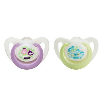 New NUK Newborn 2 Pack Advanced Orthodontic Silicon Pacifier - Girl