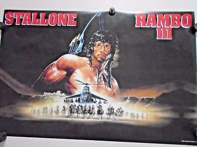 Rambo lll - Stallone / Orig. vintage Poster #837 / Exc.+ new cond./ 22 x 34""