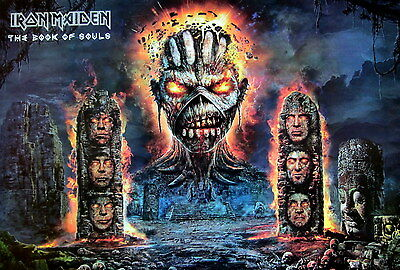 "IRON MAIDEN ""BOOK OF SOULS"" POSTER FROM ASIA - Heavy Metal Music"