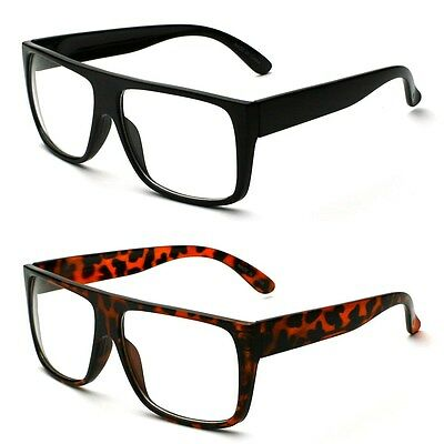 New Square Glasses Clear Lens Thick Frame Nerd Eyewear