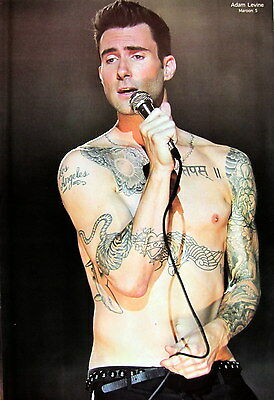 "Maroon 5 ""adam Levine - Shirtless & Singing In Concert"" Poster From Asia"