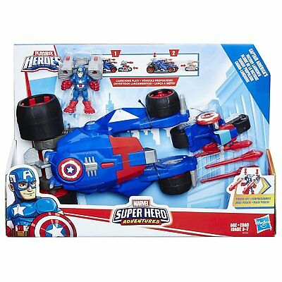 New Hasbro Playskool Marvel Captain America's Victory Launcher E0156