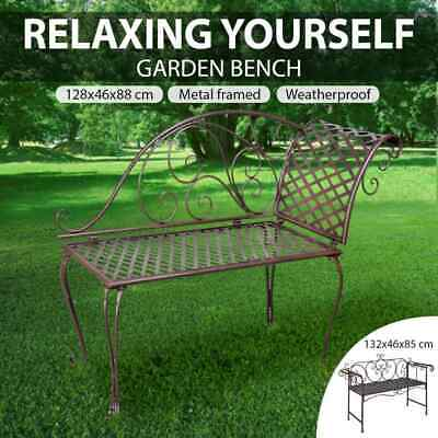 Garden Metal Bench Steel Chair Outdoor Park Seat Vintage Furniture Multi Models