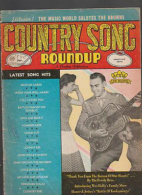 Country Song Roundup January 1960 The Browns Everly Brothers Homer & Jethro