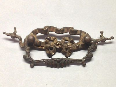 Antique  Vintage Bronze Art Nouveau Furniture Pull Handle Part