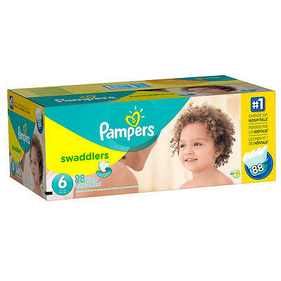 New Pampers Swaddlers Diapers Size 6 Super Economy Pack - 88 count