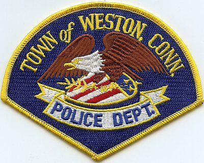 Weston Connecticut Ct Police Patch