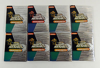Lot of (8) 1996 Marvel Super Heroes Magnets Trading Card Packs
