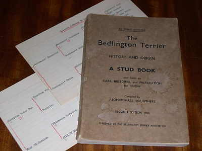 "Very Rare ""the Bedlington Terrier History & Origin"" Dog Book By Redmarshall 1935"