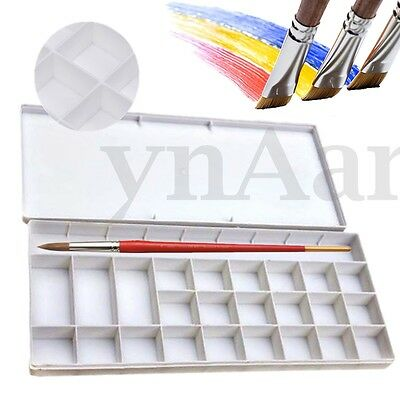 25 Well Watercolor Oil Case Box Acrylic Art Paint Mixing Palette Draw Tray Z47