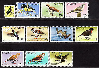 $St. Kitts Sc#112a-22 M/NH, complete set, 1983 date, birds, Cv. $26.65