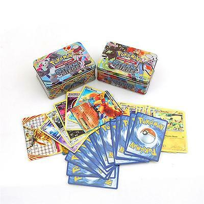 42pcs/lot Hot Kids Metal Box Game Cards Trading Collection Cards Figures Toys LA