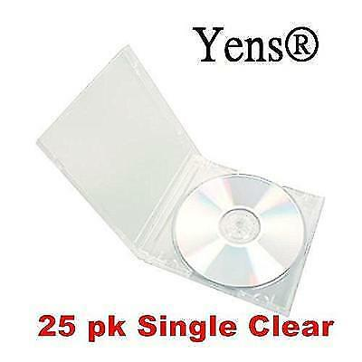 Yens Standard Single CD Jewel Case Assembled, 10.4mm, Clear, 25 Piece New
