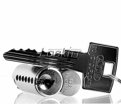 ABUS 888 KD Cylinder for 83 Series Padlocks Chrome Plated Restricted key