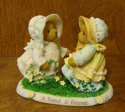 """Cherished Teddies #4020566 LINDA and BRENDA """" A Friend Is Forever"""", New/Box 4.1"""""""
