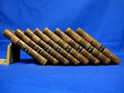 TURKISH SPY LETTERS 1770 Rare Books LEATHER SET 8 vols ANTIQUE Ottoman Empire