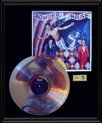 Crowded House Rare Gold Record Platinum Disc Lp Album Frame