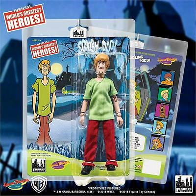 "2016 Figures Toy Company Hanna Barbera Scooby Doo Shaggy 8"" Retro Mego Figure"