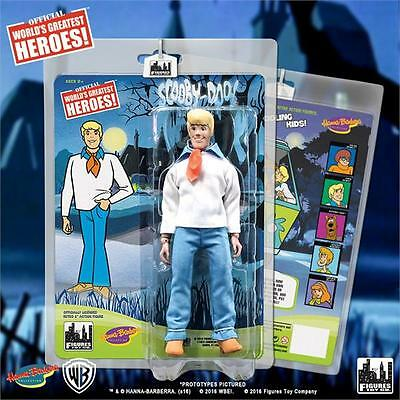 "2016 Figures Toy Company Hanna Barbera Scooby Doo Fred 8"" Retro Mego Figure Set"