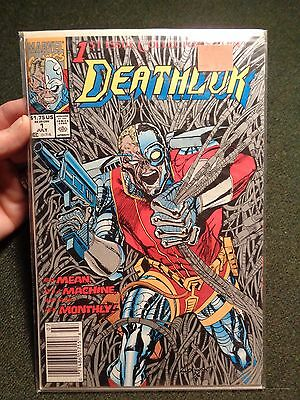1991 DEATHLOK comic book #1 MARVEL COMICS July Dwayne McDuffie Gregory Wright