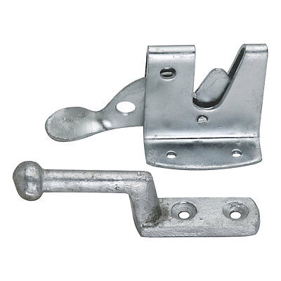 Smith & Locke Heavy Duty Auto Gate Catch Galvanised 120mm