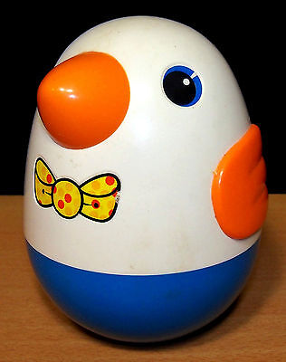 Vintage Playskool Roly Poly Chime Penguin Duck Weeble Toy - VGC