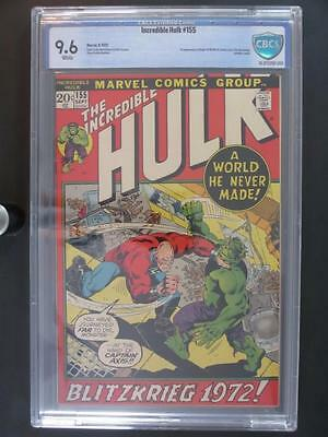 Incredible Hulk #155 -NEAR MINT- CBCS 9.6 NM+ Marvel 1972 - Ant-Man cameo App!!!
