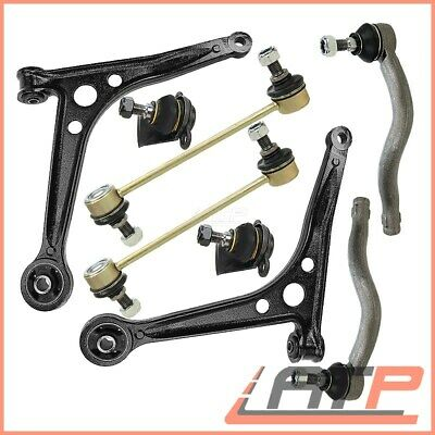 Set Track Control Arms Wishbones +Ball Joint +Stabiliser Link+Tie Rod End Front